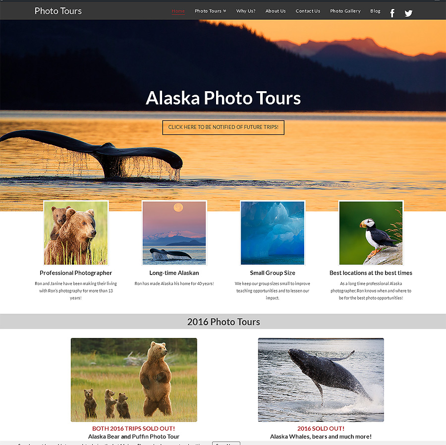 New website for my Alaska photo tours - and more!