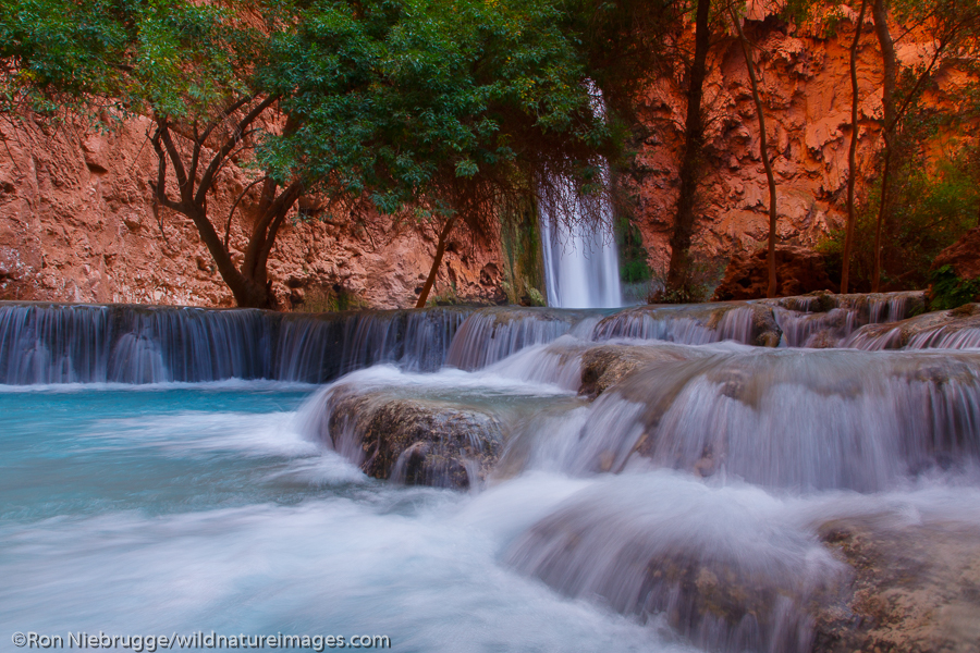 Mooney Falls, Havasupai Indian Reservation, Grand Canyon, Arizona.