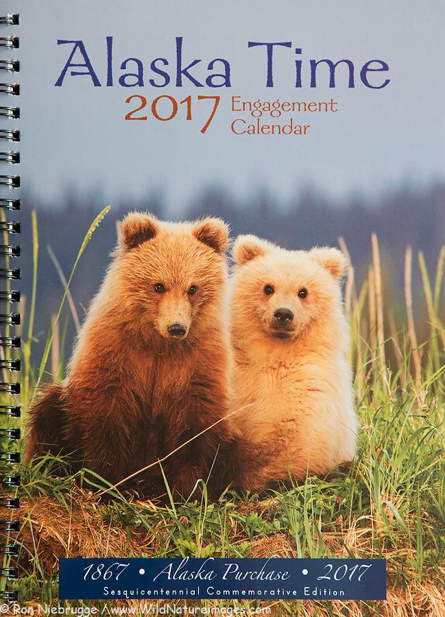 2017 Alaska Time Calendar.