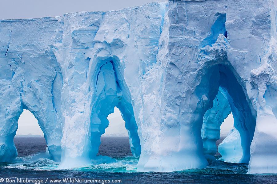 Below the Antarctica Circle.