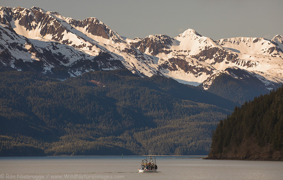 The Discovery leaving Cordova, Alaska.