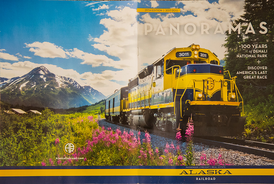 Alaska Railroad Brochure.