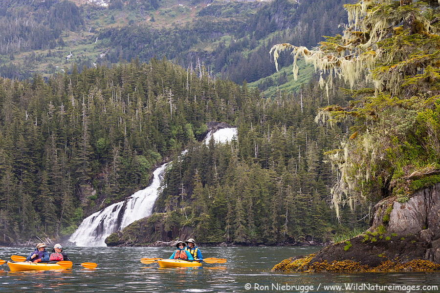 Kayaking in Prince William Sound, Alaska last month.