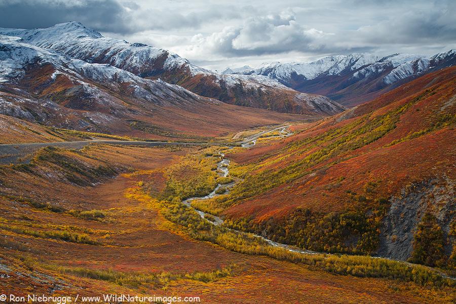 The Dalton Highway in the Brooks Range, Alaska.