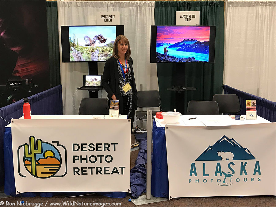 Our two booths at the NANPA Summit, Las Vegas, Nevada.