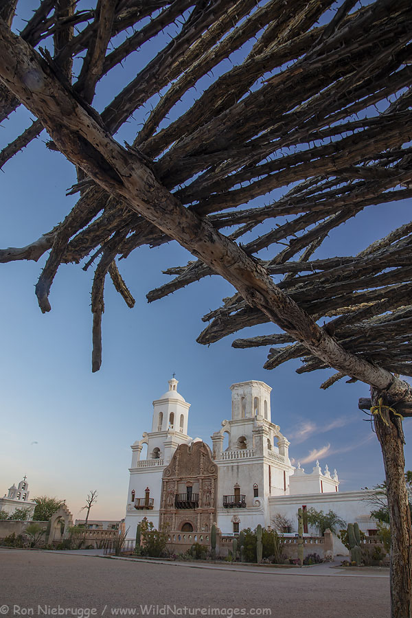 Mission San Xavier del Bac, Tucson, Arizona.