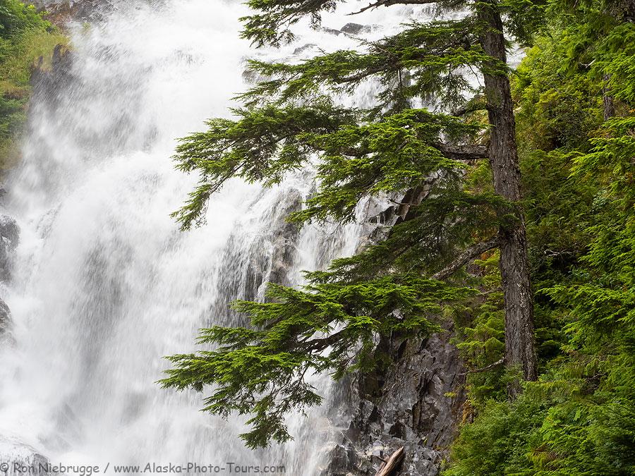 Kasnyku Falls, Baranof Island, Alaska.
