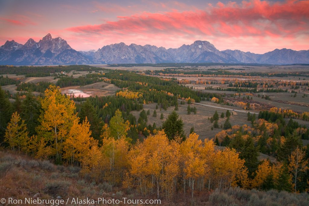 Grand Teton at sunrise, Grand Teton National Park, Wyoming.